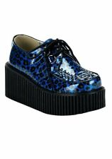 Demonia CREEPER-208 Women's 3 Inch Glitter Cheetah Print Creeper Shoe