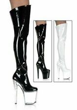 Pleaser XTREME-3010 Women's 8 Inch Spiked Heel Thigh High Boots