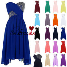 New Stock Formal Short Prom Party Ball Gown Wedding Bridesmaid Evening Dress6-20