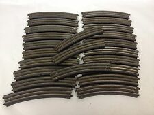 TTR TRIX TWIN RAILWAY TRACK 410/1 CURVES 23 PIECES BAKELITE BASE