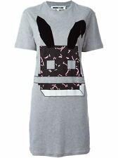 **DEFECT** McQ Alexander McQueen Electro Bunny Print T-shirt Dress Tee Tank Top