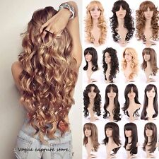 18 Mind-Blowing Long Hairstyles Straight Curly Beach Wavy Full Wig Two Tone Hair