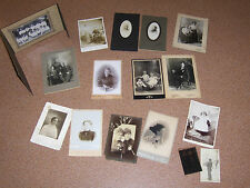 Various Vintage CDV and other Photo's