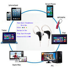 New 3.5mm Sport Stereo Subwoofer Earphone In Ear With Mic For Samsung S7 Lot
