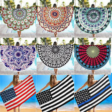 Round Beach Pool Home Shower Towel Blanket Table Cloth Wall Hanging Yoga Mat