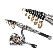 2.1M Telescopic Fishing Rod Spinning Fish Hand Tackle Carbon Fiber Pole Portable