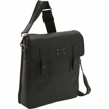 Dopp Genuine Leather and Cotton Gear Urban Messenger Bag with Magnetic Closure