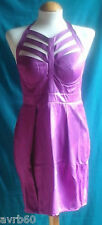 Lipsy dress halterneck with strappy front party clubwear red or purple new