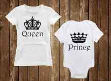 Queen & Prince - Adorable Matching Mom Shirt & Son Onesie - Unique Baby Clothes