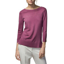 Women ladies V neck knitted pullover casual basic sweater long sleeve