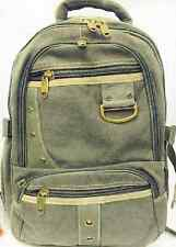 Designer Classic Military Canvas Backpack Travel Rucksack Green School Bag
