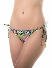 NWT Trina Turk Garden Paisley Tie-Side Hipster Bikini Bottom Black Multi