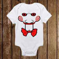 Spooky Halloween Onesie - SAW jigsaw Inspired  unisex baby clothes
