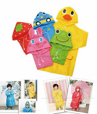 School Children Kids Cartoon Waterproof Hooded Rain Coat Jacket Poncho Raincoat