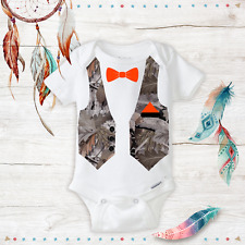 Camo/Camouflage Bowtie Suit - Daddy's Hunting Buddy Baby Boy Onesie