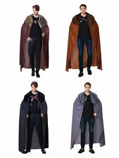 MEN'S CAPE WITH FUR COLLAR GAME OF THRONES FANCY DRESS COSTUME