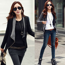 New Women Lady Slim Fit Jacket Blazer Outwear Zipper Fashion Casual Coat Outwear