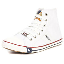 Mustang Hi Top Womens Trainers White New Shoes