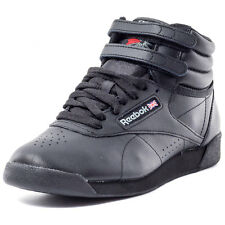 Reebok Freestyle Hi Womens Trainers Black New Shoes