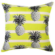 NEW Mono Pineapples Yellow Cushion (various sizes) by Escape to Paradise