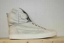 RAF SIMONS white luxury nappy leather made in Italy sneakers new in box 43 £650