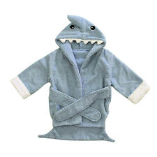Boy Girl Cartoon Animal Shark Baby Bathrobe Hooded Bath Towel Infant Bathing