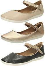 FEATURE FILM LADIES CLARKS D FITTING ANKLE STRAP SMART BALLERINA STYLE SHOES
