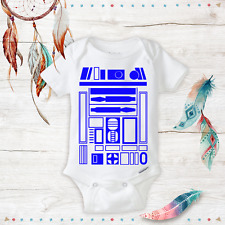Star Wars R2 D2 Halloween Costume Onesie Funny unisex baby clothes -