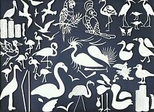 LOTS 6-45 PCS SUB-SETS TROPICAL BIRD DIE CUTS* FLAMINGO PELICA TOUCAN *READ POST