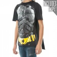 Official DC Comics BATMAN DARK KNIGHT T-SHIRT with Cape Mens Funny Costume Suit
