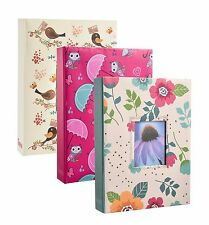 "3 x LARGE 200 POCKET SLIP IN PHOTO ALBUM HOLDS 7 X 5"" PHOTOS BRIGHT DESIGNS"
