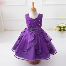 New Kids Girls Princess Dress Party Pageant Wedding Bridesmaid Flower Tutu Dress