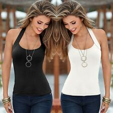 Women Summer Sexy Sleeveless Vest Top Halter Blouse Casual Tank Top Tee T-Shirts