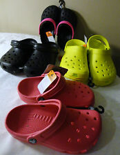 CROCS YOUTH / KIDS SLIP ON CLOGS BLACK / PINK / YELLOW NEW WITH TAG