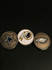 NFL Magnetic Hat Clip Golf Ball Markers, Choice of Redskins, Cowboys, Eagles
