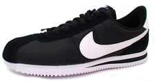 Nike CORTEZ BASIC NYLON 819720-011 'BLACK /WHITE-METALLIC SILVER' size 7.5-14
