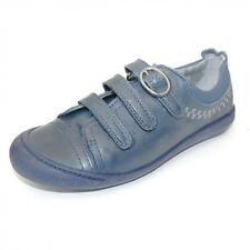 Clarks girls Ritzy Ruby enclosed navy blue leather shoes size 11.5 13 2 F
