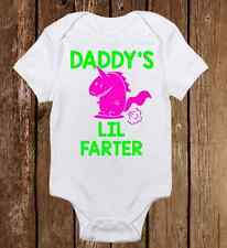Funny Daddy Lil Farter Onesies - Cute Baby Boy Girl clothes Newborn Bodysuit