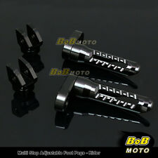 FOR Ducati Monster 696 796 2008-2013 Multi Step Adjustable Front Foot Pegs