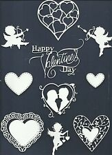 LOT 13 PCS SAMPLER-VARIED VALENTINE'S DAY DIE CUTS* HEART CUPID CAMEO *READ POST