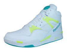 Reebok Pump Omni Zone Mens Leather Hi Top Trainers - White - M42241