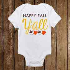 Boho Style Happy Fall Yall Onesie Pumpkin patch, Fall Bodysuit, Baby Girl