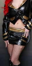 LIP SERVICE - FETISH ALLIANCE MINI SKIRT - BLACK/GOLD - MILITARY FETISH