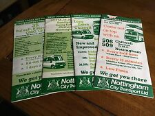 Nottingham City Transport Bus Timetables 1980s