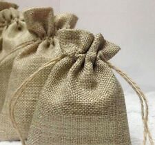 30 x Linen Drawstring Bags | Wedding Favor Craft DIY bags | 4 Sizes Available