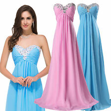 Womens Sexy BEADED Long Dress Evening Formal Party Cocktail Bridesmaid Prom Gown