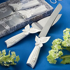 Butterfly Design Cake Knife/Server Set - Wedding Favors / FC-2413