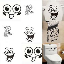Toilet Wall Sticker Removable Bathroom Funny Decals Paper Vinyl wall Art  Decor