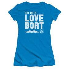 "The Love Boat ""I'm On A Love Boat"" Girl's Junior Cap Sleeve Tee"