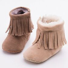 Toddler Infant Moccasin Newborn Baby Girls Boys Shoes Soft Sole Boots Prewalker
